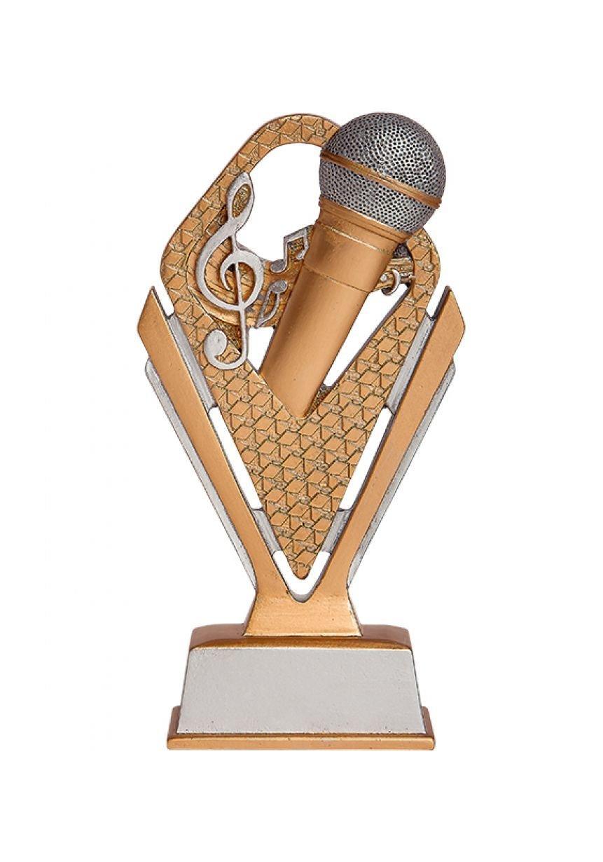 Trofeo de Karaoke con micrófono