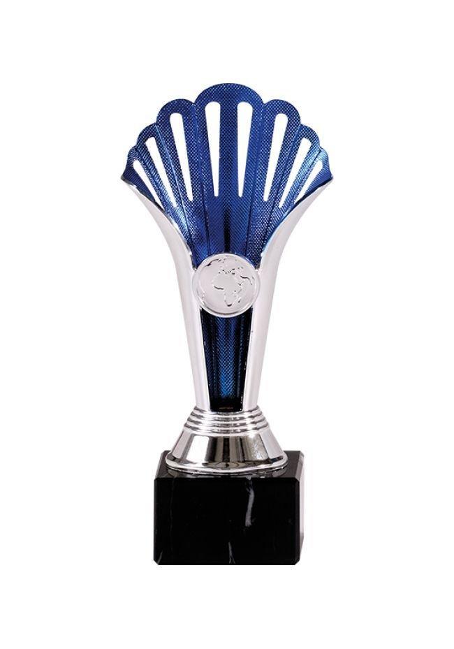 Trofeo Deportivo con forma de antorcha azul