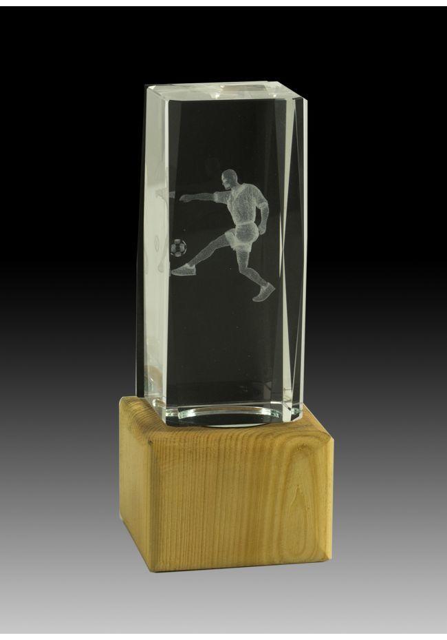 Trofeo Cubo 3D deportivo Base Madera