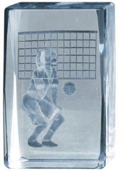 Trofeo Cubo 3D deportivo Base Madera  Thumb