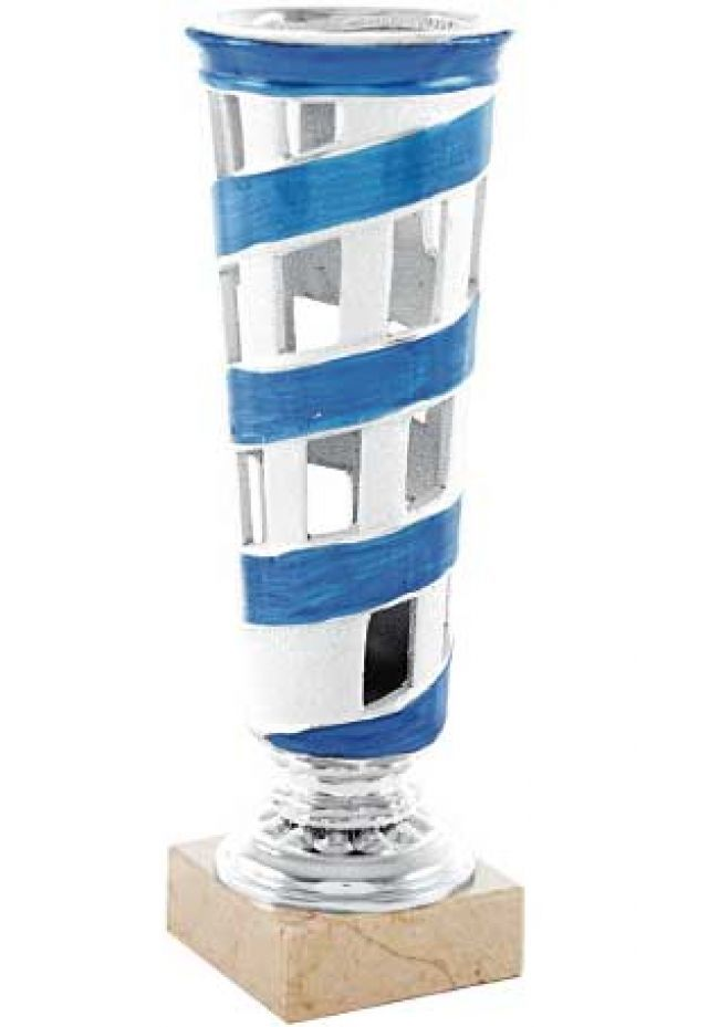 Trofeo en espiral azul