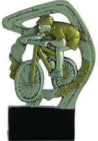 Sports trophies in resin cyclist