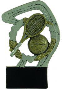Trofeo resina tenis oro/plata