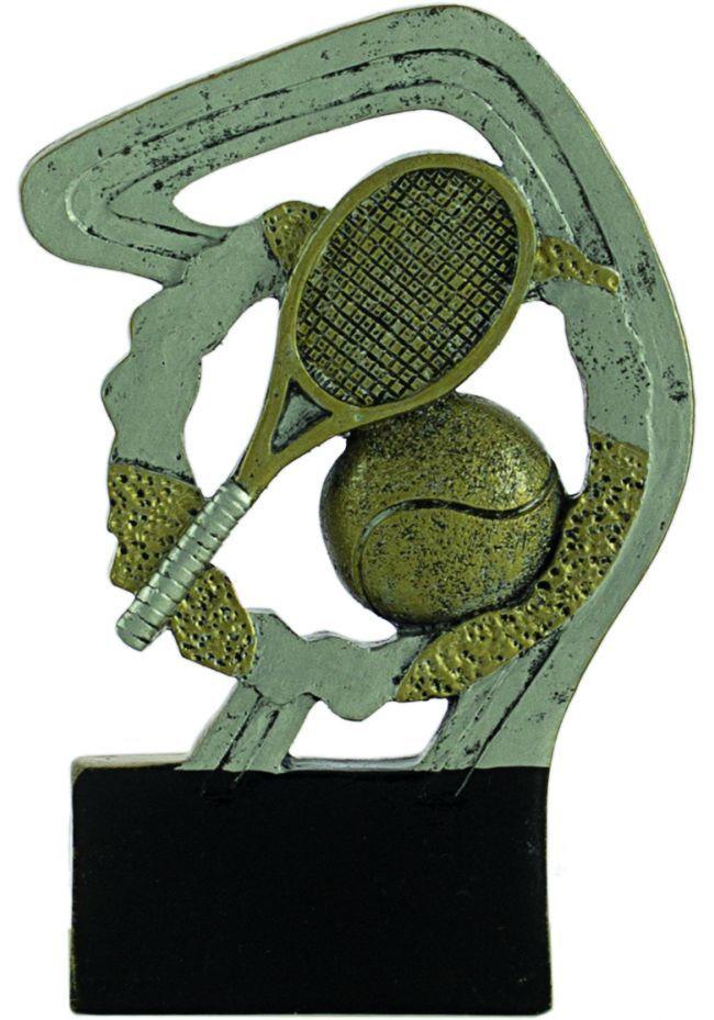 Trophée en résine de tennis or/argent