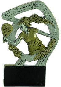Sports trophy in padel resin woman