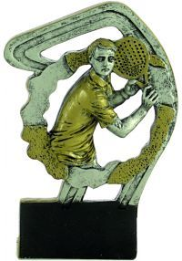Sports trophy in padel resin man