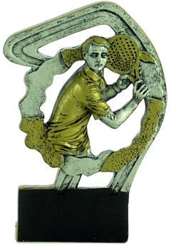 Trofeo deportivo en resina de pádel hombre