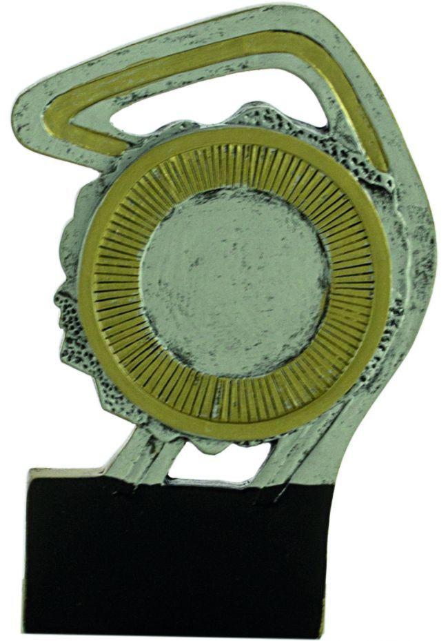 Trofeo deportivo portadisco resina