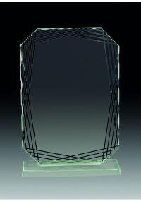 Trofeo de cristal rectangular irregular
