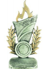 Allegorical torch award trophy