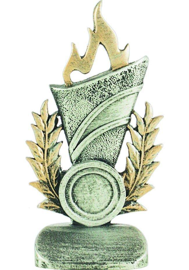 Allegorical torch award trophy