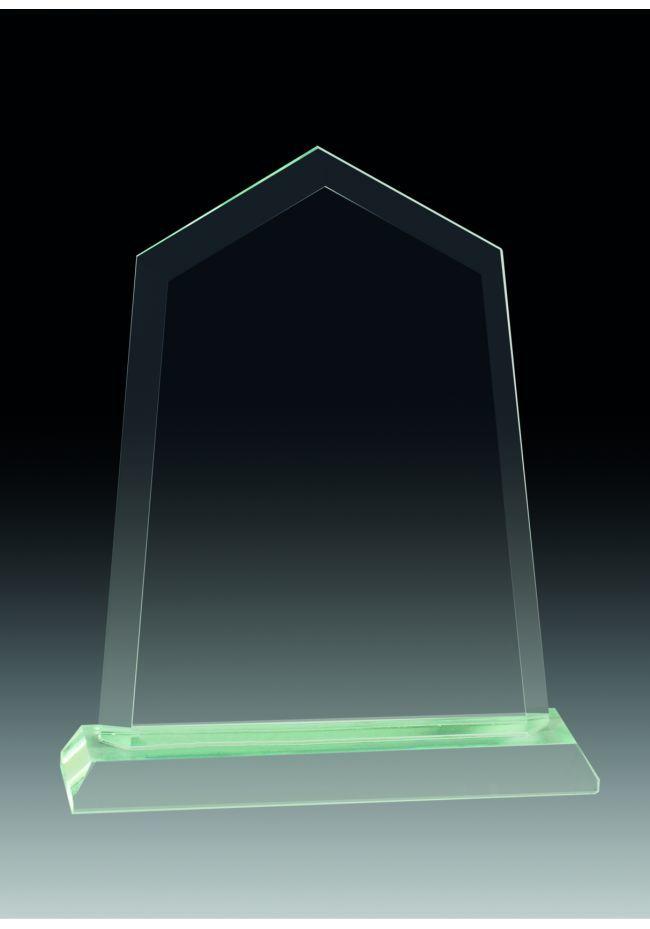 Trofeo de cristal prisma con base