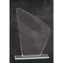 Trofeo di cristallo di picco irregolare