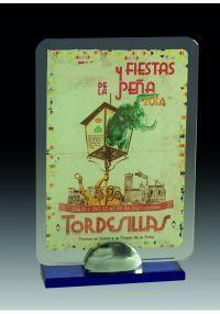 Trofeo de cristal rectangular con soporte-1