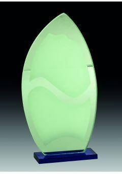 Trofeo Cristal en color con forma de lágrima Thumb