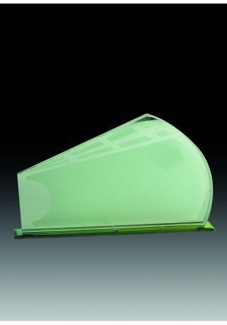 Trofeo de cristal con ventanales