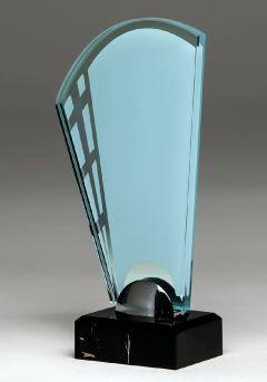 Trofeo de cristal con ventanales Thumb