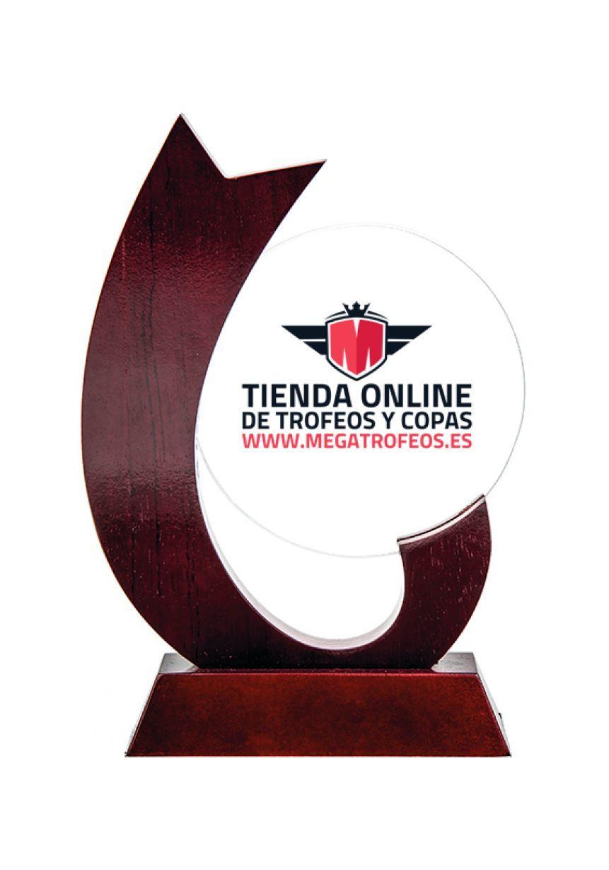 Trofeo de Madera y Cristal