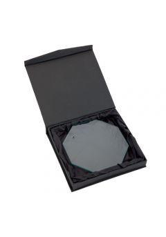 Trofeo de cristal personalizado con soporte Thumb