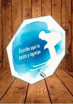 Trofeo de cristal para Ski con soporte metálico