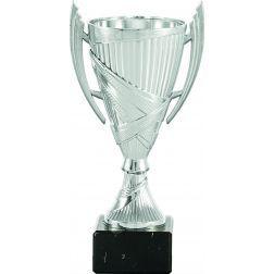 Coupe trophée cône couleur argent poignées