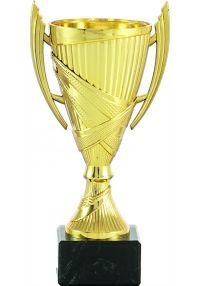Trophy cup cone color gold handles