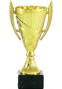 Premio copa cono de color oro y asas