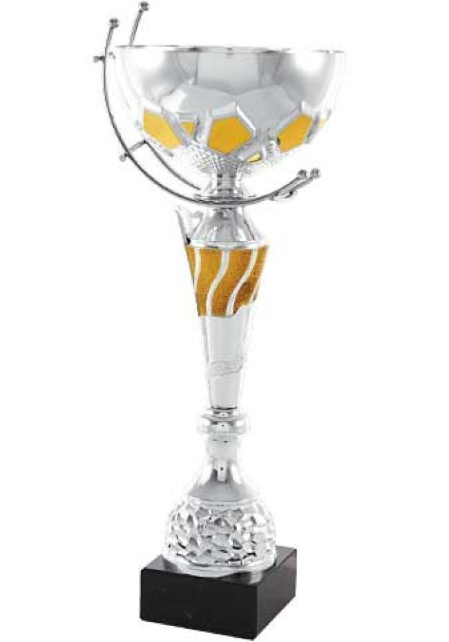 Trofeo copa cónica y medio balón