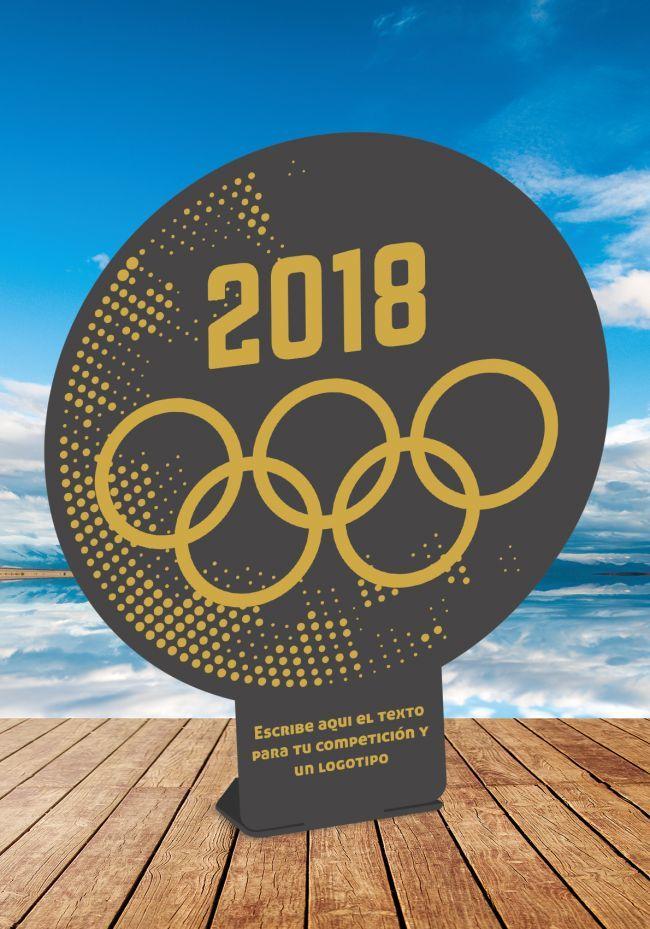 Trofeo de 2018 de metal de una pieza