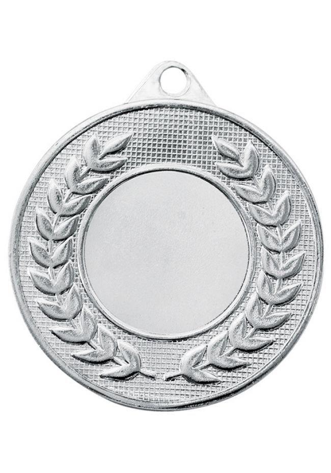 Medalla portadisco labrada laurel