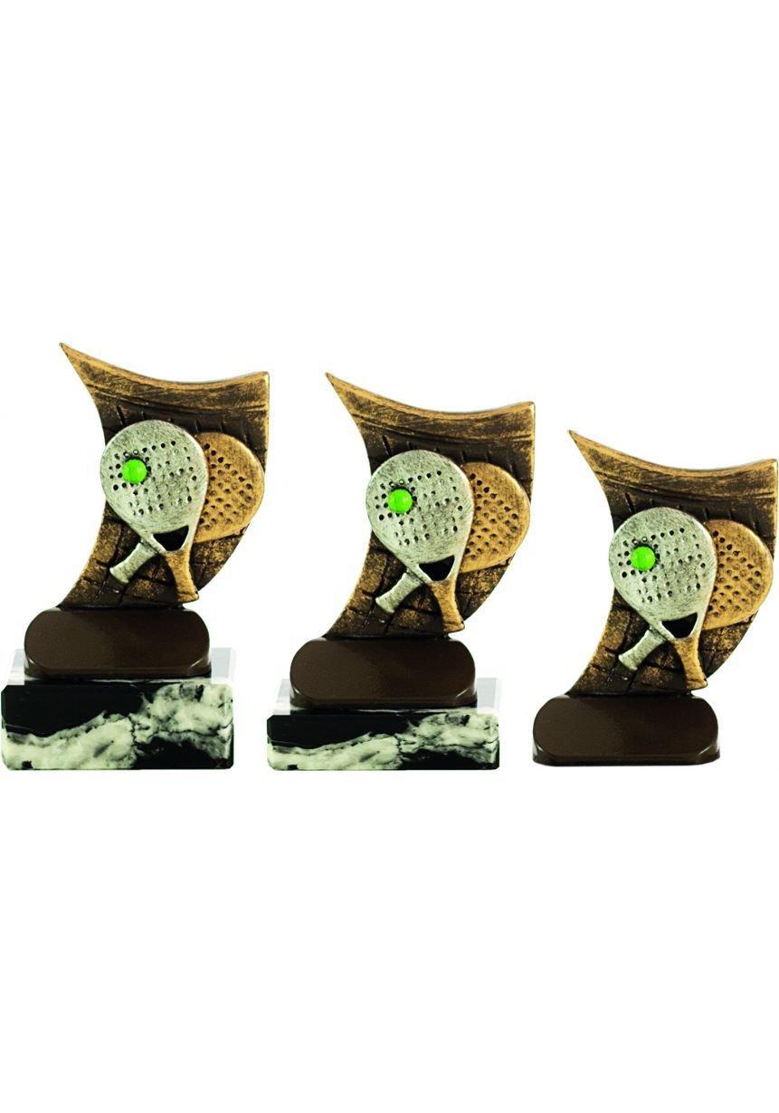 Trofeo pádel resina raquetas
