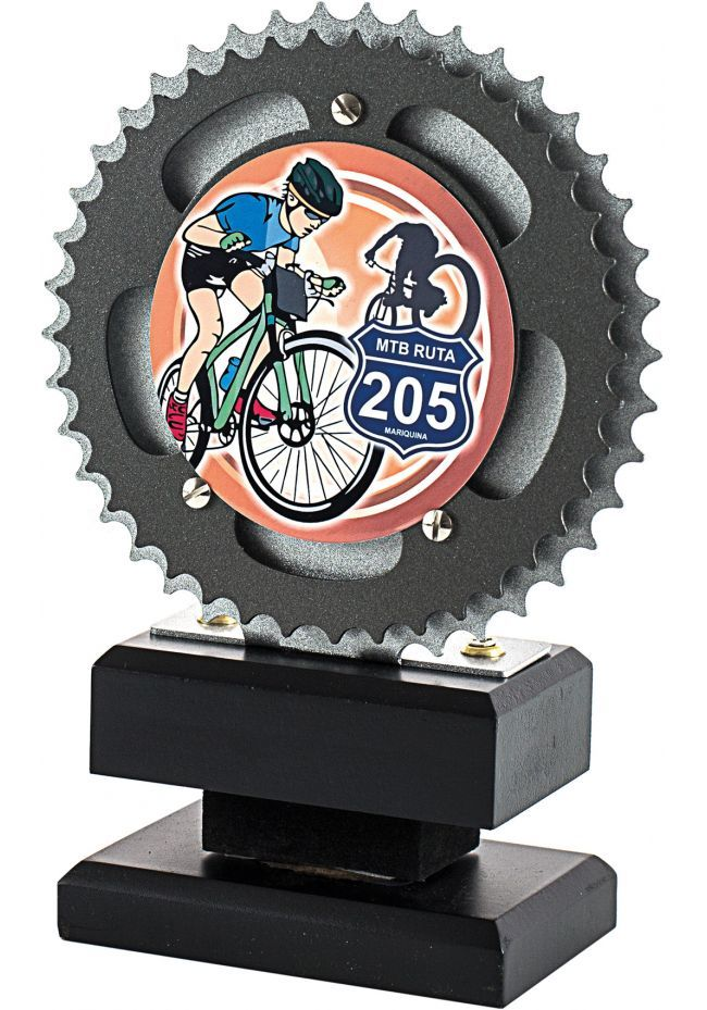 Trofeo con disco de mountainbike