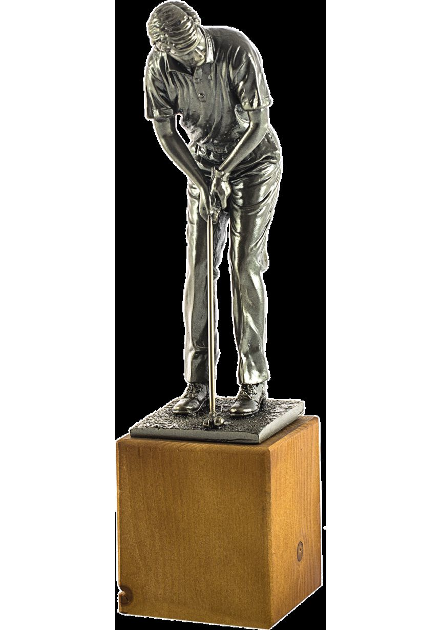 Trofeo de un Golfista realizado Resina