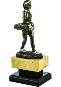 Trofeo de una Golfista realizado Resina -1