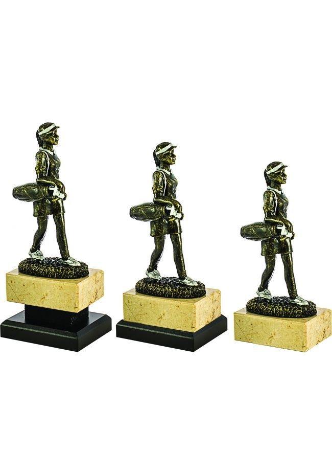 Trofeo de una Golfista realizado Resina