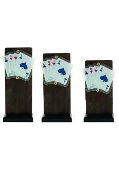 Trofeo Madera/Resina Cartas Póker Thumb