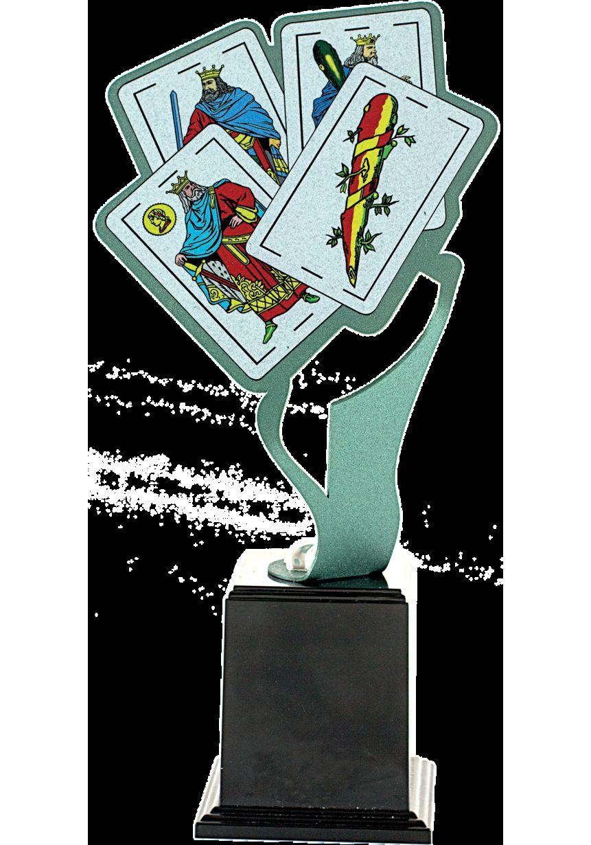 Trofeo Metal Cartas