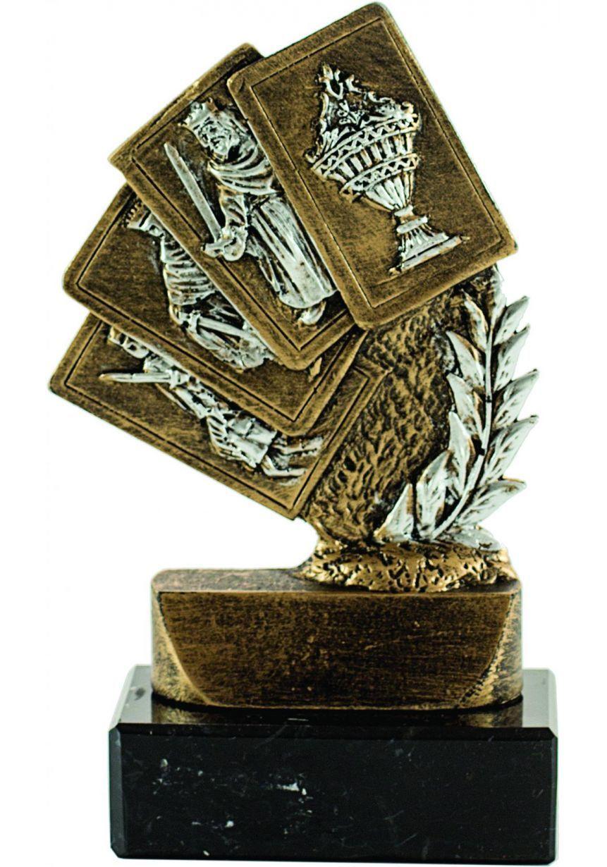 Trofeo Mini figura laurel 4 Cartas