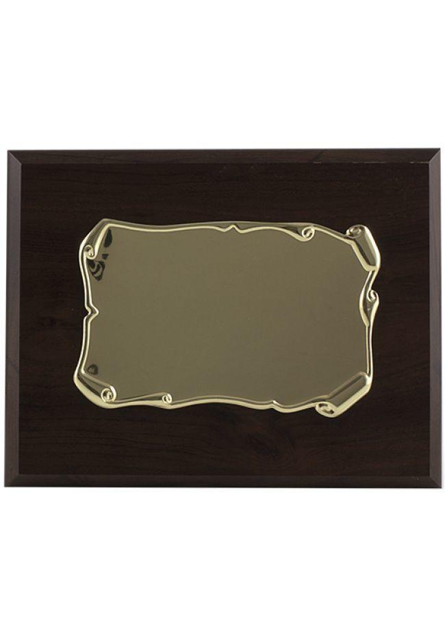 Rolo de forma de placa de tributo rolou noz de ouro