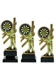 Trofeo jugador dardos y diana