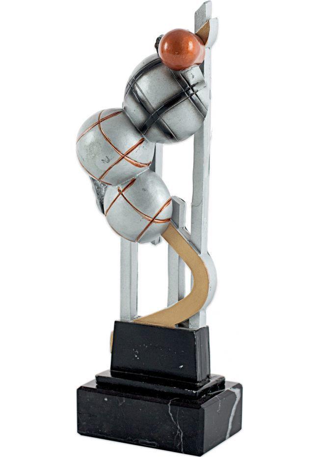 Trofeo resina con aplique de petanca