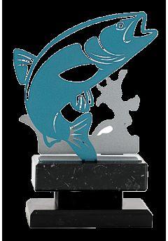 trofeo de pez metal 13