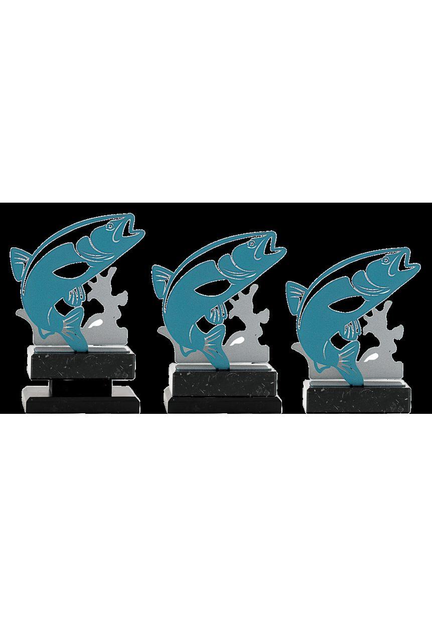 Trofeo de pez metal
