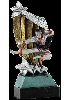 trofeo patada karate rojo 14