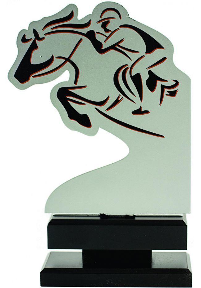 Trofeo metal jinete
