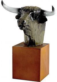 Trophée tête de taureau