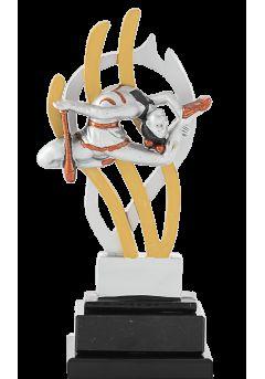 trofeo de gimnasia con figura 10