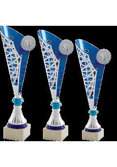 Trofeo Copa Medio Cono Plata/Azul