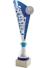 Trofeo Copa Medio Cono Plata/Azul-1