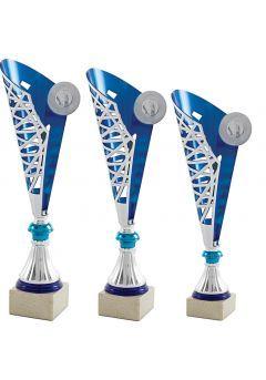 Trofeo Copa Medio Cono Plata/Azul Thumb